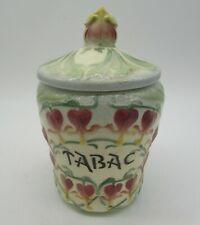 pot à tabac art-nouveau barbotine St-Clément Keller Guérin tobacco jar
