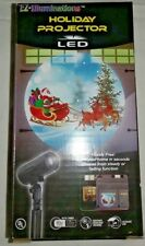 EZ Illuminations Holiday Projector LED -Santa in sleigh and reindeer