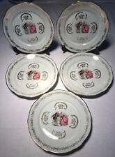 Lot2 De 5 Grandes Assiettes En Porcelaine Signée F D CHAUVIGNY D 23,5 Cm