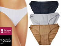 2 or 6 Pack Womens Bikini Panties Ribbed Cotton Low Rise Comfy Breathable S M L