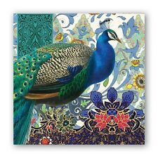 """""""Peacock"""" 20 Cocktail Paper Napkins made in Germany by Michel Design Works-New"""