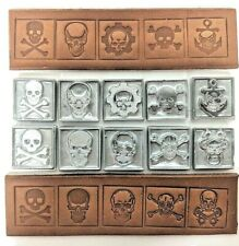Leather Stamps - SKULLS - 10 Custom Stamps for Deep Embossing Many Leather Items