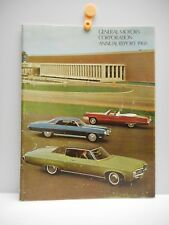 Vintage - GENERAL MOTORS CORPORATION ANNUAL REPORT - booklet - 1968