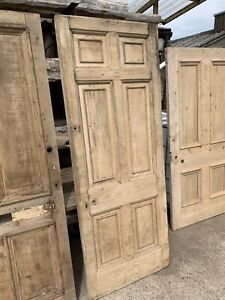 RECLAIMED - Victorian ANTIQUE - STRIPPED PINE 6 PANEL DOOR (Front, Entrance)