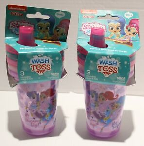 Nuby Nickelodeon Shimmer and Shine Wash or Toss Sippy Cups - 6pk 9m+
