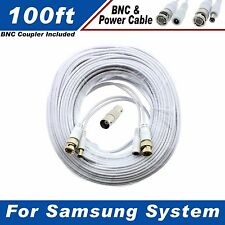 WHITE PREMIUM 100FT CCTV SURVEILLANCE CABLE FOR SAMSUNG SDE-5003N