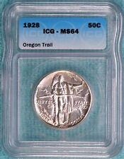 1928-P MS-64 Oregon Trail Comememorative Half Uncirculated