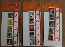 TINTIN 2004 15 TIMBRES 15 STAMPS FIGURES CHARACTERS PERSONAGES ! VERY RARE !