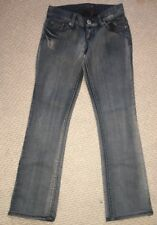 GUESS  Jeans Size 25 Elliot Straight Leg Dark Wash Stretch Embellished