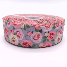 "Roses 38mm 1.5"" Grosgrain Ribbon per meter"