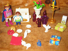 PLAYMOBIL KING PRINCE CASTLE PALACE PLAY FIGURES PARROT DOVES CHEST PARTY DRINKS