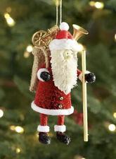 Pottery Barn Bottlebrush Santa Ornament