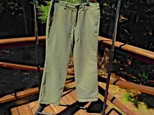 NEW EMS Eastern Mountain Sports Men's 36/31 Olive Green Canvas Casual Pants