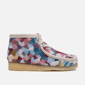 NEW IN BOX! MENS CLARKS Wallabee Boot Multi Print LIMITED CASUAL SHOES 26153336