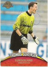 A Topps card Thomas Sorensen at Sunderland. Personally signed by him.