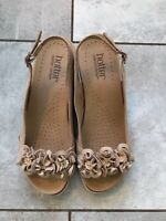 Hotter Mimosa  Wedge Sandals in Beige-  US Size 8- UK Size 6 - EU Size 39