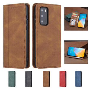 For Huawei P40 P30 Lite Pro Anti-Shock Flip Wallet Holder Leather Phone Case