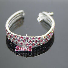 Bling Rhinestone Crystal Dog Necklace Collar Diamante & Pendant for Pet Puppy