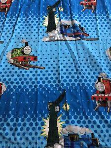 Thomas & Friends Train Crane Percy Blue Dots Twin Flat Sheet 2008 Cotton Blend