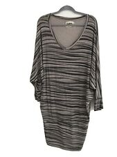 a postcard from brighton size 1 Grey & Black Stripe Tunic / Dress