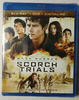 Maze Runner: The Scorch Trials (Blu-ray + DVD, 2015) BRAND NEW & FACTORY SEALED!