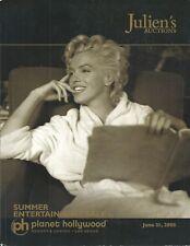 JULIEN'S ENTERTAINMENT MEMORABILIA ANIMATION Marilyn Monroe Sammy Davis Cat 2008