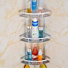 3Layers Triangular Shower Shelf Bathroom Corner bath  Rack Storage Basket Hanger