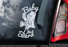 Baby On Board - Car Window Sticker - Care Bears - PERSONALIZE: Baby, Child, -V01