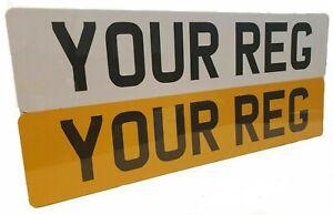 Pair Standard MOT UK Road Legal Car Van Reg Registration Number Plates