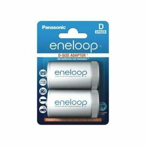 Panasonic BQ-BS1E/2E Eneloop D Mono Adapter (Pack of 2)