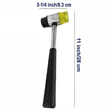 11 Double Face Soft Rubber Mallet Hammer Tubular Steel Nonslip Handle