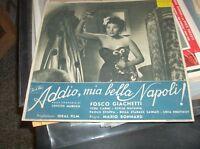 ADDIO, MIA BELLA NAPOLI ! fotobusta piccola originale 1946 F. GIACHETTI V. CARMI