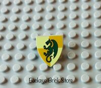 LEGO Castle Knight Minifig Shield with Dark Green Dragon 6918 7187 7946 7189