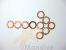 MAXDIVE 10pcs/lot Scuba Valve Bonnet Gasket Copper Gasket # BG06-1C