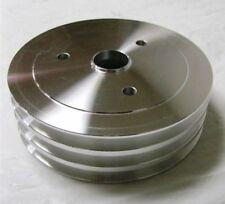 Aluminum Triple 3 Groove Small Block Chevy Crankshaft Crank Pulley 350 Sbc Swp