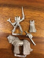 Wood Elves Mounted General Cape & Broadsword  80s Metal Elf Games Workshop OOP