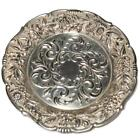S Kirk   Son Sterling Silver Repousse 27F Coaster Dish or Butter Pat 58g  3 7 8
