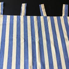 Waverly Curtains Blue Yellow Stripe Tab Top 3 Pieces 72 X 25