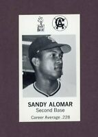 1969 JACK IN THE BOX CALIFORNIA ANGELS /  SANDY ALOMAR  NM-MT