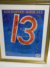 GOODSPEED MUSICAL 13 Cast signed poster autograph Framed 2008 A new comedy