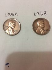 United States, 1959 One Cent, And 1968