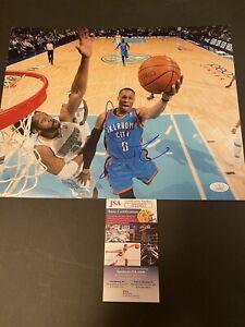 Russell Westbrook Signed 11x14 Photo Oklahoma City Thunder JSA COA RARE