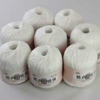 AIP Thread No.8 Cotton Crochet Yarn Craft Tatting Hand Knit Shawl Lace 50grX8 12