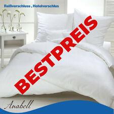 Bettwäschegarnitur Bettwäsche Hotelbettwäsche Reißverschluss Hotelverschlus