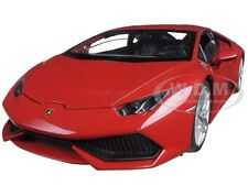LAMBORGHINI HURACAN LP 610-4 RED 1/18 DIECAST MODEL CAR BY WELLY 18049