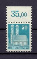 Bizone 92 e.g. Bauten 50 Pfg. enge Zähnung postfrisch tiefst geprüft (rs122)