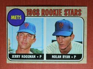 ∎ 1968 TOPPS baseball card NOLAN RYAN RC #177 **FABULOUS CARD**