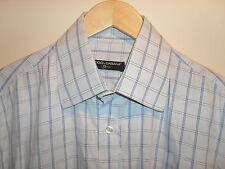 D&G DOLCE & GABBANA Designerhemd Größe L 42 blau kariert langarm