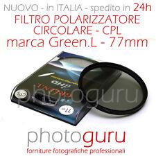 Filtro Polarizzatore Circolare Green.L  CPL 77mm Canon Nikon Sony HD 77 mm