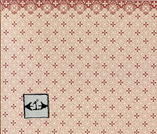 Scale Blue tile with pink border QKT601B 1pc dollhouse Brodnax Prints O 1//48/'